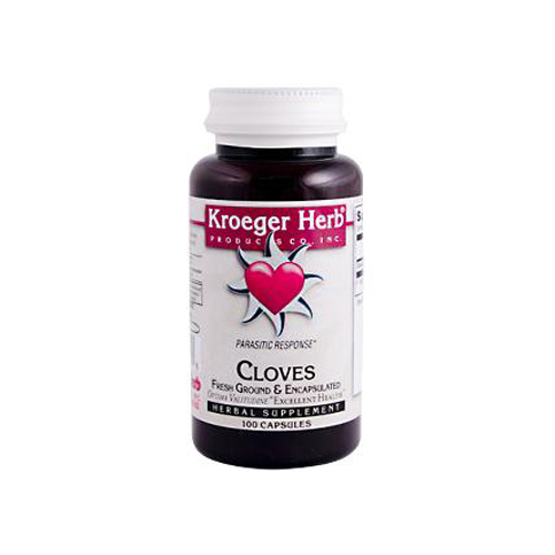Kroeger Herb Fresh Ground Cloves - 450 mg - 100 Vegetarian Capsules