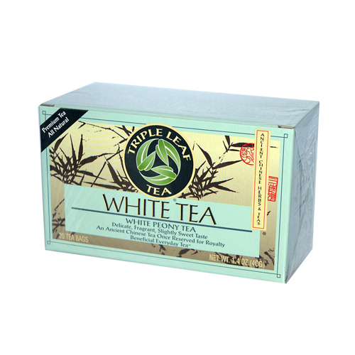Triple Leaf Tea White Tea - 20 Tea Bags - Case of 6