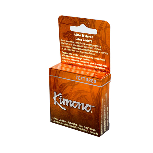 Mayer Laboratories Kimono Textured Condom - 3 Condoms