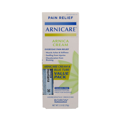 Boiron Arnicare Cream Value Pack with 30 C Blue Tube - 2.5 oz