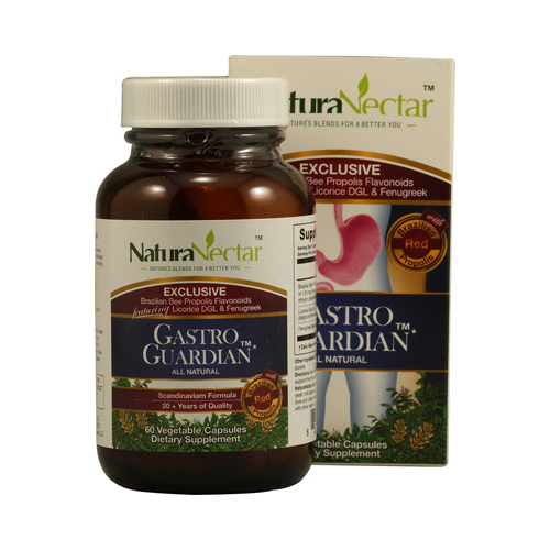 NaturaNectar All Natural Gastro Guardian - 60 Capsules