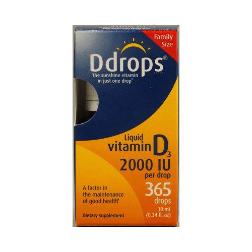 D Drops Liquid Vitamin D3 - 2000 IU - 0.34 fl oz