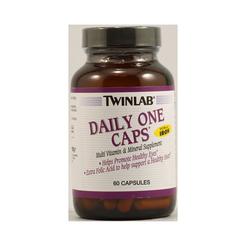 Twinlab Daily One Caps without Iron - 60 Capsules