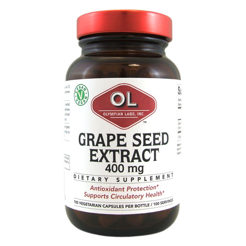 Olympian Labs Grape Seed Naturopathic - 400 mg - 100 Capsules