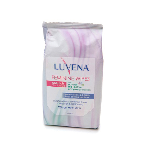 Luvena Anti-Itch Wipes - Medicated - 25 Pack