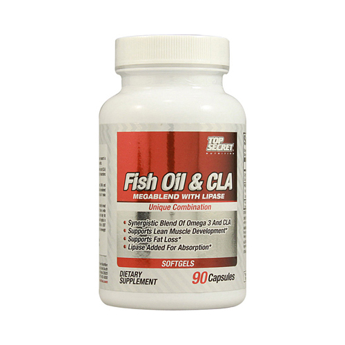 Top Secret Nutrition Fish Oil and CLA Megablend - 90 Softgels