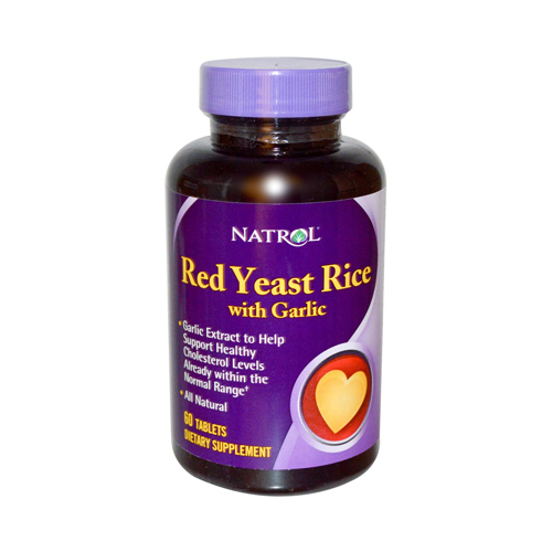 Natrol Red Yeast Rice with Garlic - 60 tablets