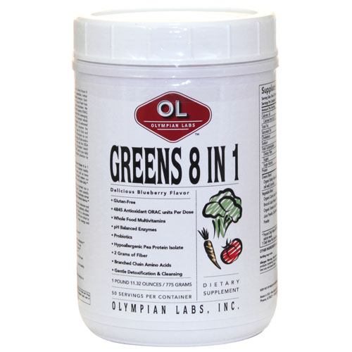 Olympian Labs Greens Protein 8 in 1 - 13.69 oz