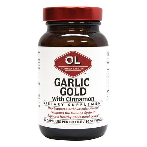 Olympian Labs Garlic Gold with Cinnamon - 30 capsules