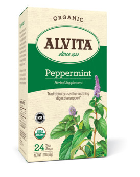 Alvita Tea Organic Herbal Peppermint Tea - 24 Bags