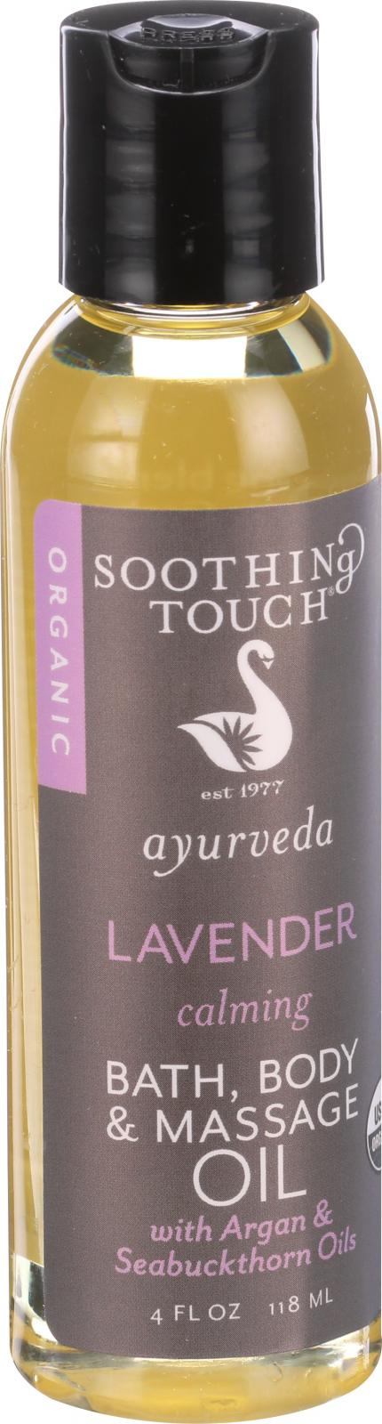 Soothing Touch Bath Body and Massage Oil - Organic - Ayurveda - Lavender - Calming - 4 oz