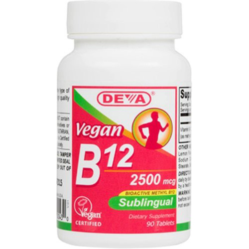 Deva Vegan Vitamins Sublingual B12 - 2500 mcg - 90 Tablets