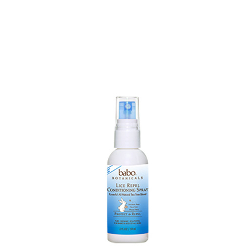 Babo Botanicals Conditioning Spray - Lice Repel - Travel Size - 2 oz
