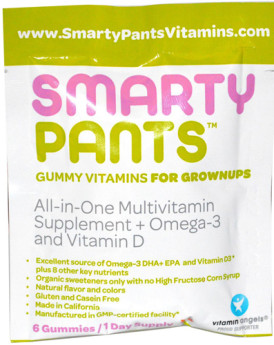SmartyPants Multivitamin - All in One - D3 - Gummy - Adlt - .56 oz - Case of 15