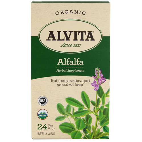Alvita Tea - Organic - Alfalfa Herbal - 24 Tea Bags