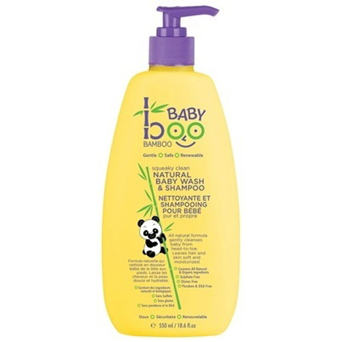 Boo Bamboo Baby Wash and Shampoo - Squeaky Clean - 18.6 fl oz