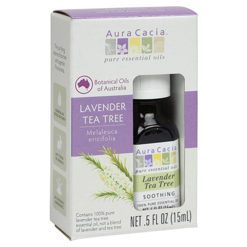 Aura Cacia Essential Oil - Pure - Lavender Tea Tree - .5 fl oz