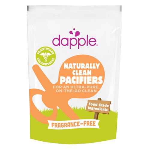 Dapple Pacifier Wipes - Food Grade - Fragrance Free - 25 Count