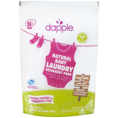 Dapple Laundry Detergent Pods - Baby - Fragrance Free - 25 Count
