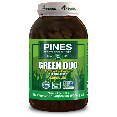 Pines International Green Duo - Organic - Capsules - 260 Veg Capsules