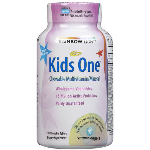 Rainbow Light Multivitamin and Minerals - One - Kids - 30 Tahlets - 1 Case